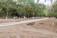 在里约阿苏尔峰河,Guatema附近的消遣区域 库存图片