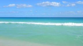 在里维埃拉玛雅人的加勒比海滩,坎昆,墨西哥 库存照片