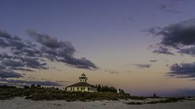 在重创的Boca的灯塔,佛罗里达 库存图片