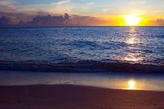在重创的boca,佛罗里达的日落 免版税库存照片