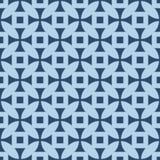 在重复的几何样式 织品印刷品 无缝的背景,马赛克装饰品,两种颜色种族的样式 库存照片