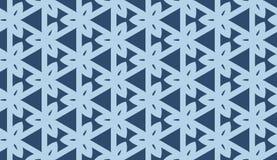 在重复的几何样式 织品印刷品 无缝的背景,马赛克装饰品,两种颜色种族的样式 图库摄影