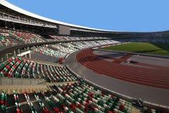 在重建以后的发电机体育场在I I欧洲比赛前 库存图片