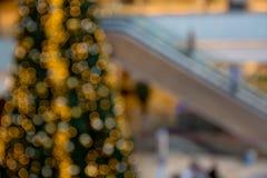 在重点外面的圣诞树 图库摄影