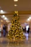 在重点外面的圣诞树 免版税库存照片