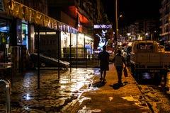 在重的降雨量以后的暑假镇-土耳其 免版税图库摄影