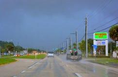 在重的雷暴以后 库存照片