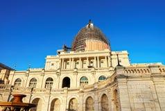 在重建工作期间的美国国会大厦 免版税图库摄影