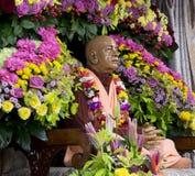 在野兔克里希纳寺庙的Svami Prabhupada形象 免版税库存照片