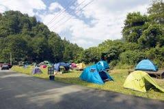 在野营的郊区 免版税库存照片