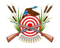 在野鸭象征的狩猎与目标 免版税图库摄影