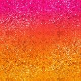 在金子、红色、桃红色和黄色的闪烁背景 抽象数字式艺术织地不很细背景 库存照片