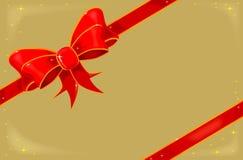 在金子的圣诞节丝带 库存照片