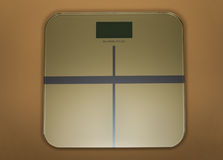 在金子的重量标度 免版税库存图片