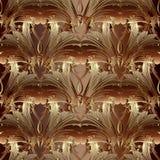 在金子秋天颜色的巴洛克式的纸卷装饰品 库存照片