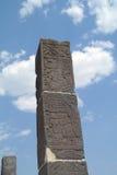 在金字塔里面复杂的史特拉在Teotihuacan 库存图片