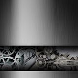 在金属框架的齿轮 免版税库存图片