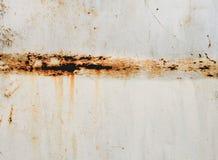 在金属的生锈的槽孔 库存照片