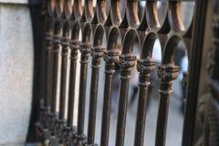 在金属银颜色的篱芭 图库摄影