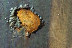在金属门的铁锈 免版税库存图片