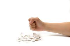 在金钱的拳头 库存图片
