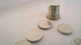 在金钱足迹之后 库存照片