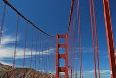 在金门大桥附近,旧金山 免版税库存照片