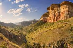 在金门高地NP,南非的阳光 库存照片