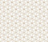 在金黄的无缝的抽象几何样式 细线 库存照片