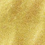 在金黄背景隔绝的无缝的金子闪烁纹理 闪闪发光衣服饰物之小金属片闪亮金属片黄色bling 免版税库存图片