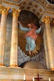 在金巴夫& x28的被加强的中世纪教会里面; Weidenbach& x29; 特兰西瓦尼亚 免版税库存图片