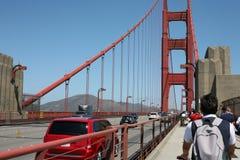在金黄桥梁的体育在旧金山 免版税库存图片