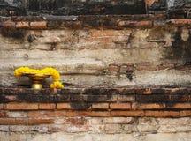 在金黄盘子,阿尤特拉利夫雷斯,泰国的诗歌选 库存图片