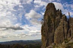在针HWY的岩层 免版税库存图片