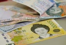 在钞票的画象 免版税图库摄影