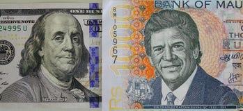 在钞票的画象 免版税库存照片