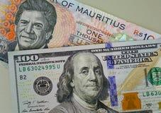 在钞票的画象 图库摄影