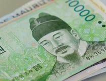 在钞票的画象 库存照片