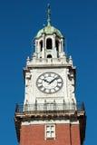 在钟楼的时钟 免版税库存图片