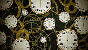 在钟表机构圈的时钟 向量例证