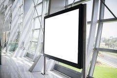 在钢内部的空白的广告牌 图库摄影