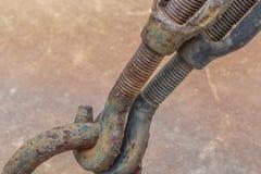 在钢勾子的铁锈 2 图库摄影