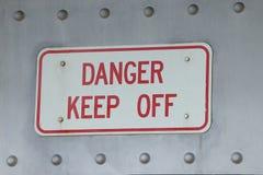 在钢的危险 免版税库存图片