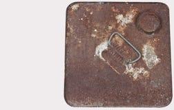 在钢的铁锈 免版税库存图片