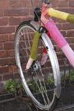 在钩针编织的自行车 库存图片