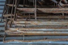 在铁板料的铁锈 库存照片