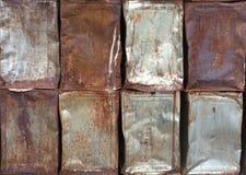 在铁板材的抽象铁锈纹理 免版税库存图片