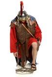 在铁海棠的罗马战士前面 免版税库存图片