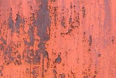 在铁表面纹理的切削的油漆 免版税图库摄影