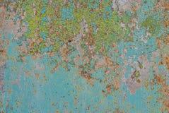 在铁表面纹理背景的切削的油漆 库存图片